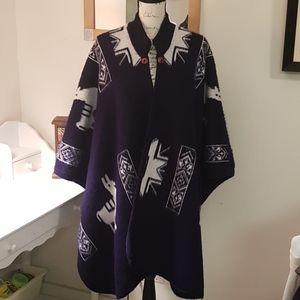 Women's Wool/Alpaca Poncho/Shrug XL/XXL